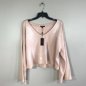 Joe's Collection NWT Bleached Distressed Sweater